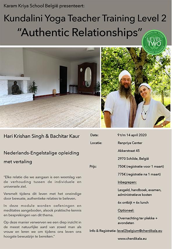 KYoga Level 2 Antwerp Belgium Authentic Relationships 2020 @ Ranpriya Center