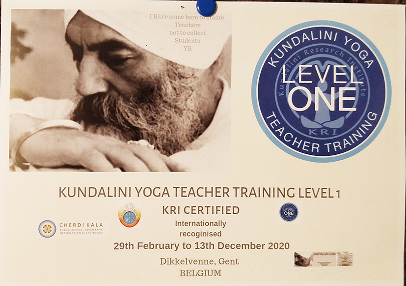 KYoga Level 1 Ghent, Belgium 2020 @ Janaa Yoga Guru Gulam