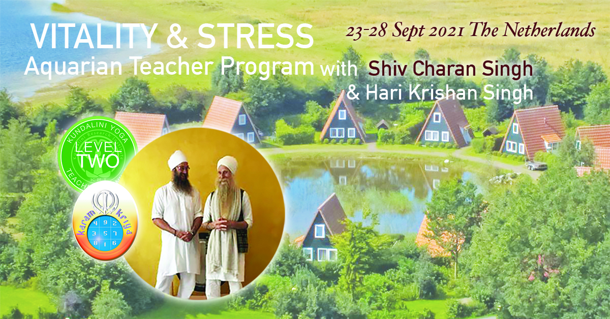 KYoga Level 2 Vitality and Stress The Netherlands with Shiv Charan Singh and Hari Krishan Singh @ Eigen Wijze
